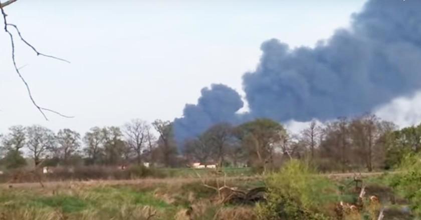 Pożar w zakładach azotowych w Kędzierzynie