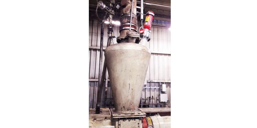 Fot. 2. Zbiornik buforowy pyłu węglowego. Źródło: materiały własne GRUPA WOLFF